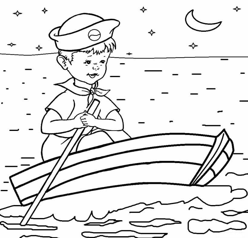 Dibujos De Barcos Para Colorear, Pintar E Imprimir Gratis