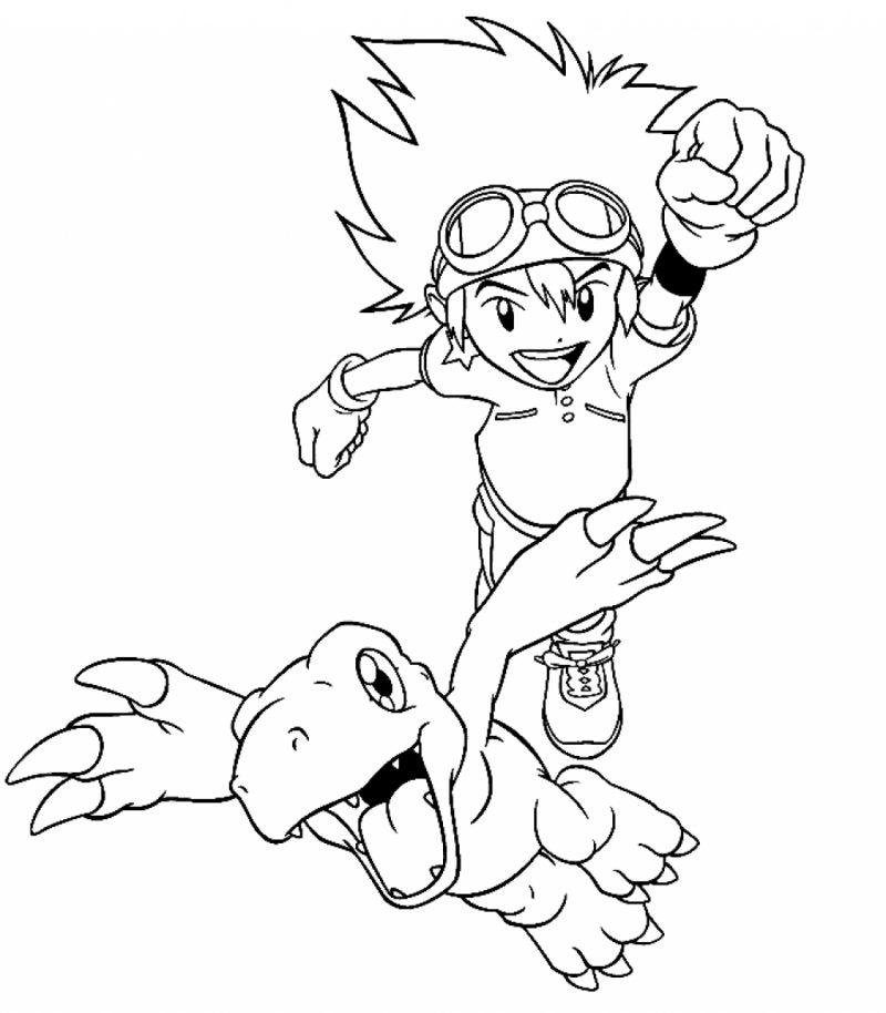 Dibujos de Digimon para colorear, pintar e imprimir gratis