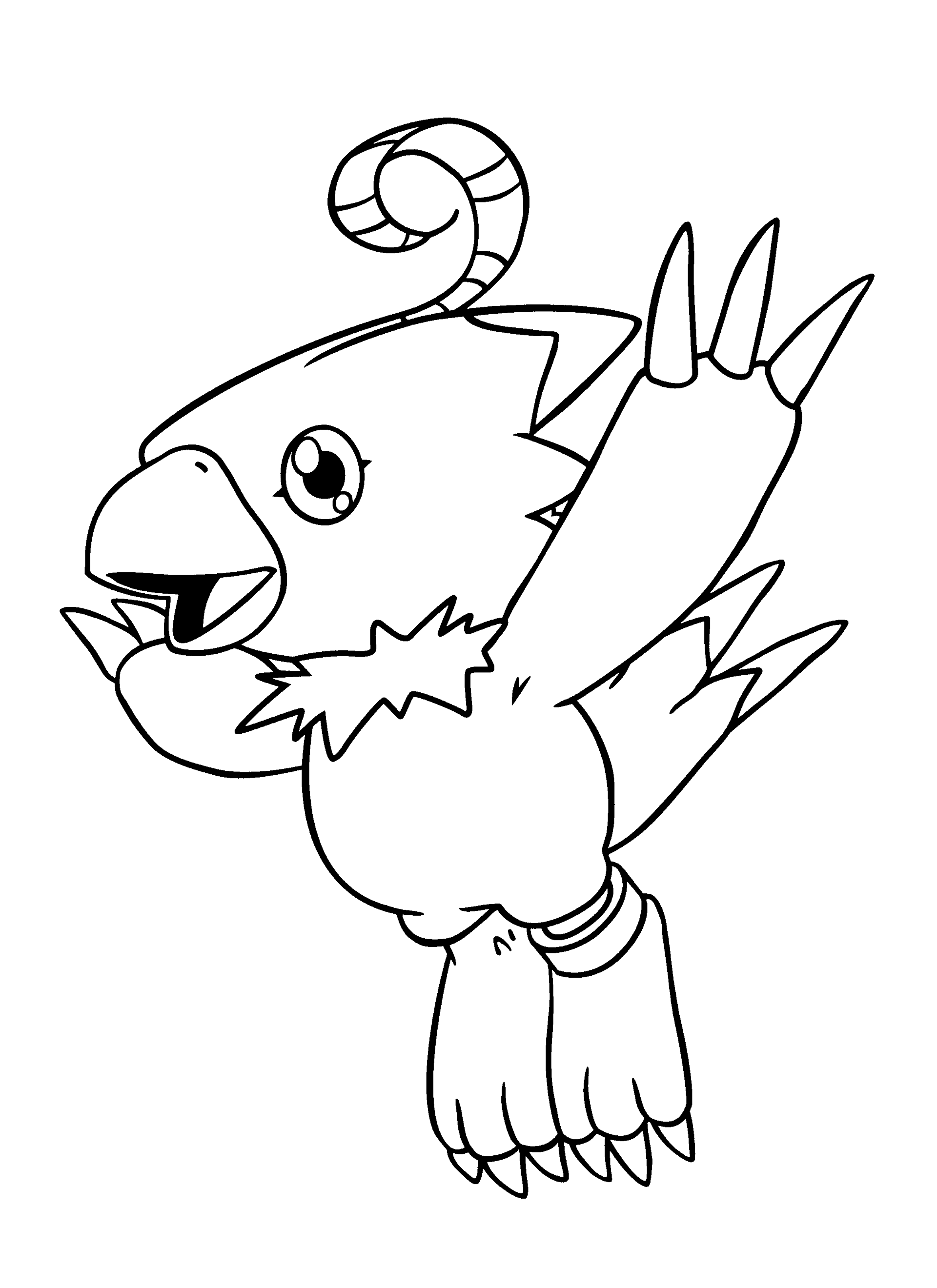 Dibujos de digimon para colorear pintar e imprimir gratis for Digimon coloring pages