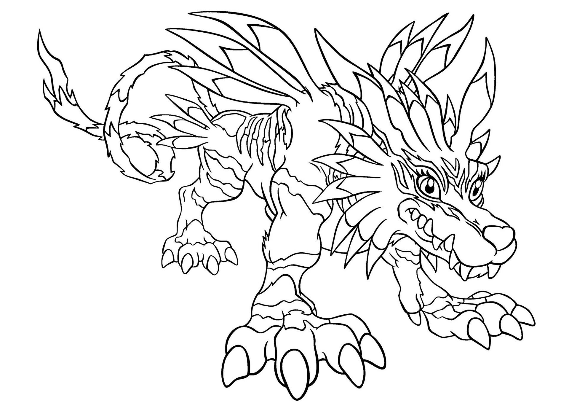 Dibujos Para Descargar Imprimir Y: Dibujos De Digimon Para Colorear, Pintar E Imprimir Gratis