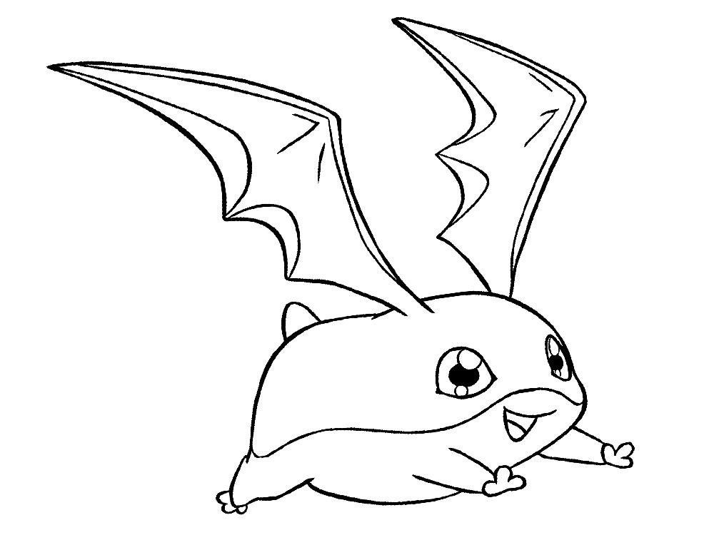 Dibujo Para Colorear De Heihei El Personaje De La: Dibujos De Digimon Para Colorear, Pintar E Imprimir Gratis