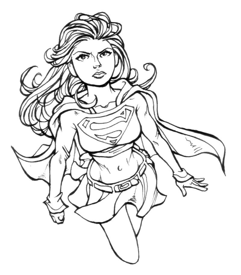Dibujos de supergirl para colorear pintar e imprimir gratis - Dibujos naif para pintar ...