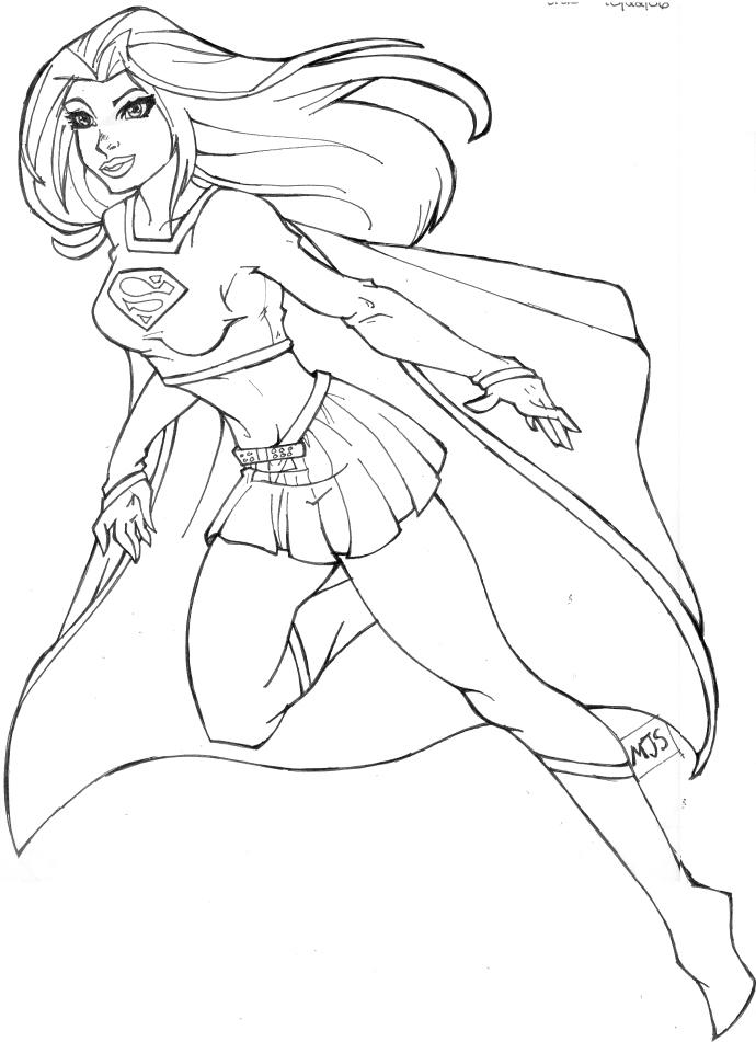 Dibujos Supergirl Para Colorear Pintar Imprimir Gratis