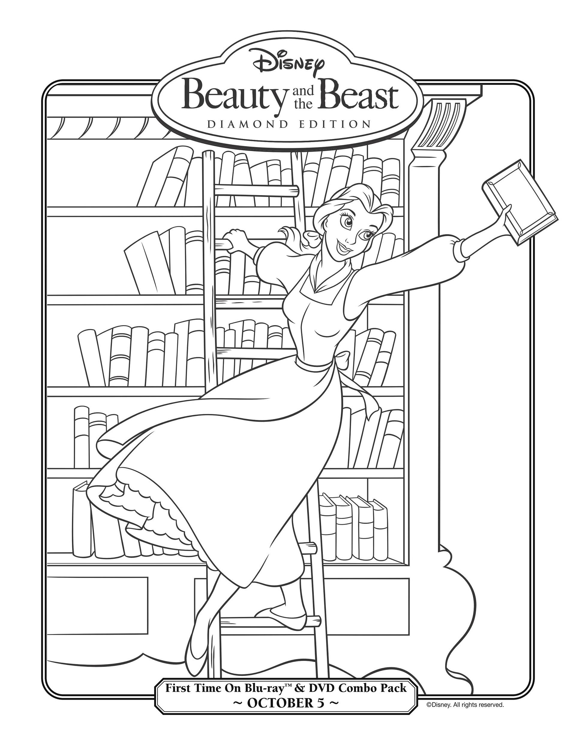 19 dibujos de la bella y la bestia para colorear pintar e - Pintar paredes con dibujos ...