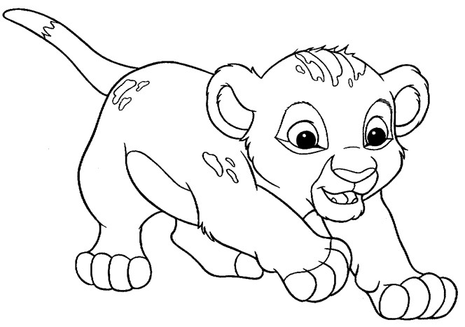 Dibujos de El Rey Leon para colorear e imprimir