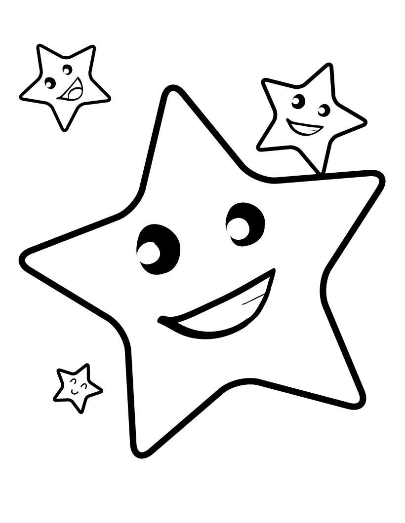 Dibujos de Estrellas para colorear, pintar e imprimir gratis