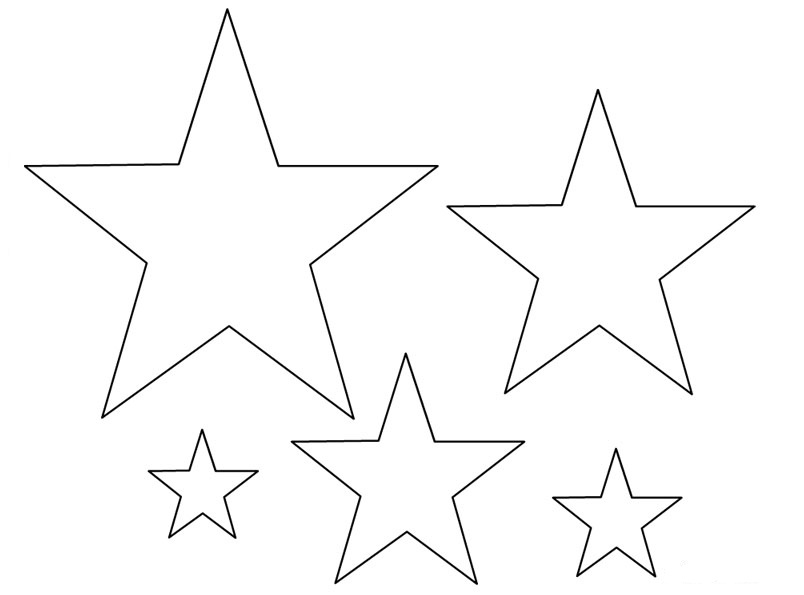 Dibujos de estrellas para colorear pintar e imprimir gratis for Small star template printable free