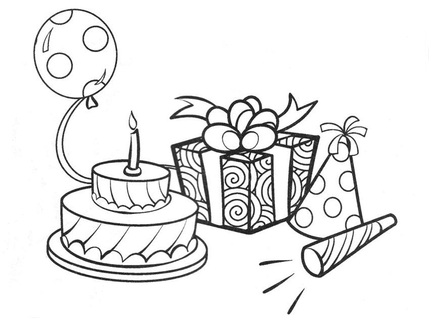 Dibujos de Cumpleaños para colorear, pintar e imprimir