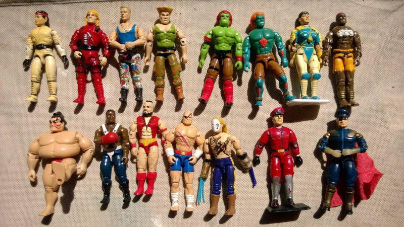 Muñecos de Street Fighter en los 80