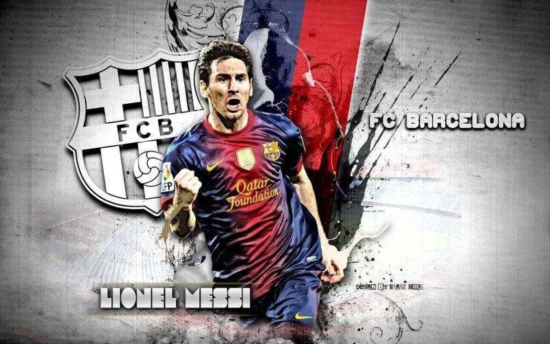 fondo de pantalla de Lionel Messi en FC Barcelona, wallpaper