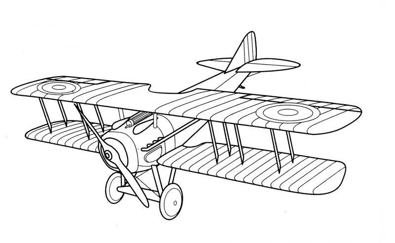 Aviones clásicos para colorear