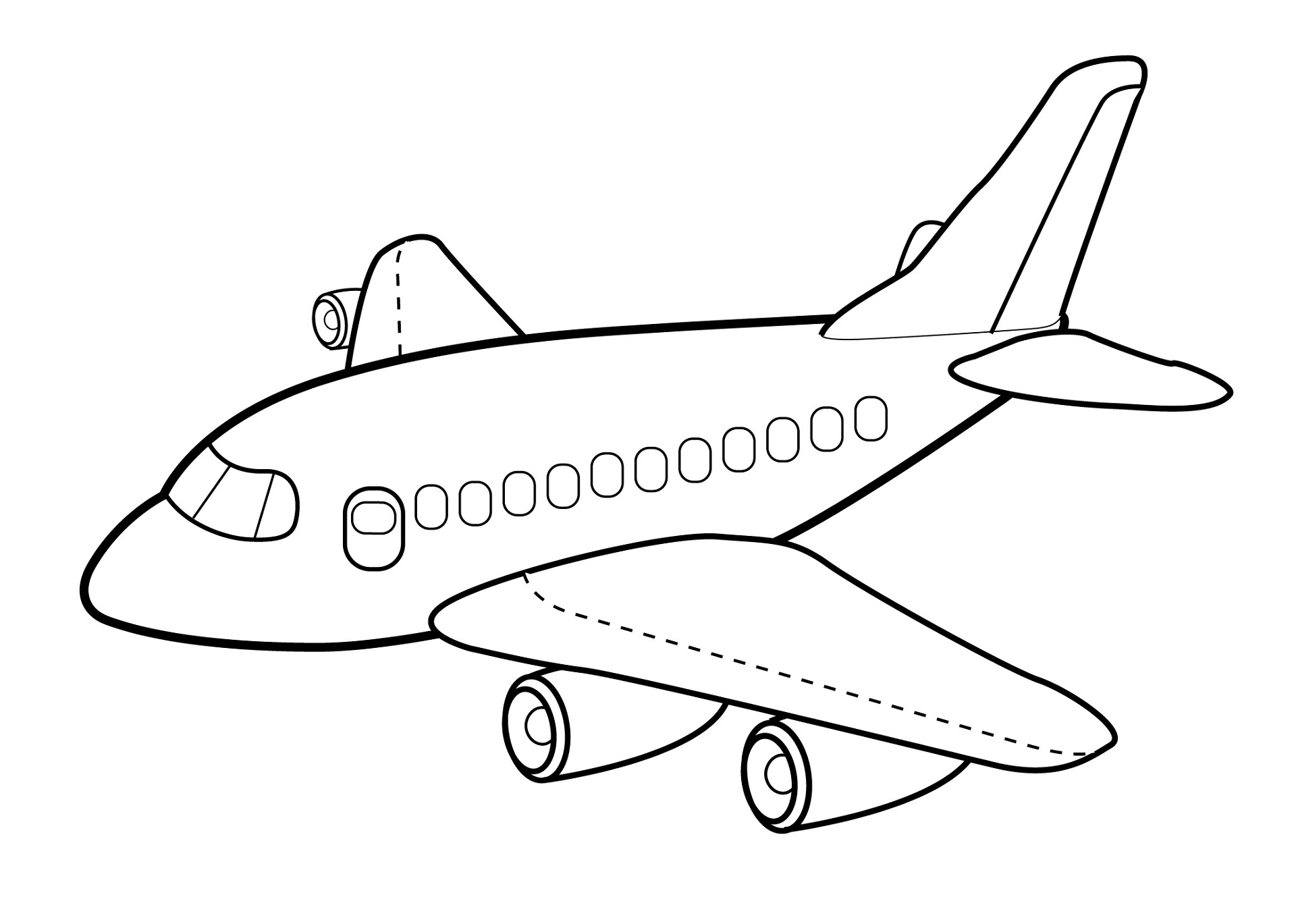 Dibujos de aviones para colorear e imprimir gratis for Airplane coloring page printable