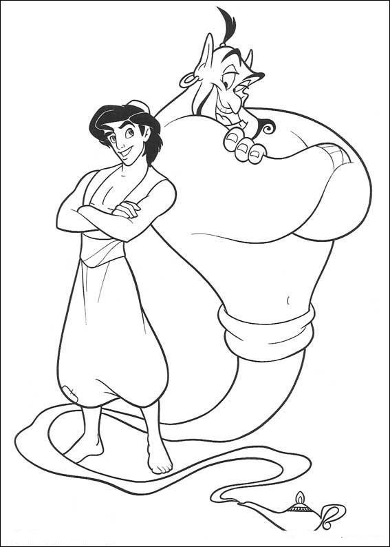 Abu Aladdin Kleurplaat Dibujos De Aladin Y Jasmin Para Colorear E Imprimir