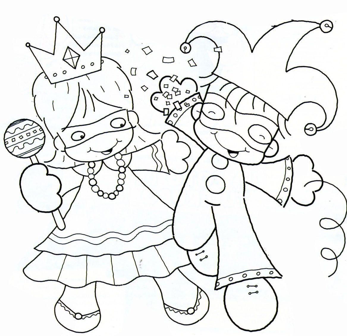 Dibujos De Carnaval Para Colorear, Pintar E Imprimir