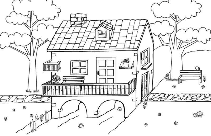Dibujos De Casas Para Colorear E Imprimir Gratis