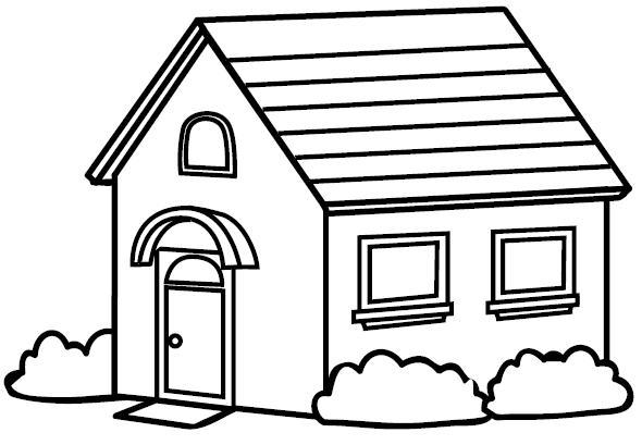Dibujos de casas para colorear e imprimir gratis - Presupuestos para pintar una casa ...