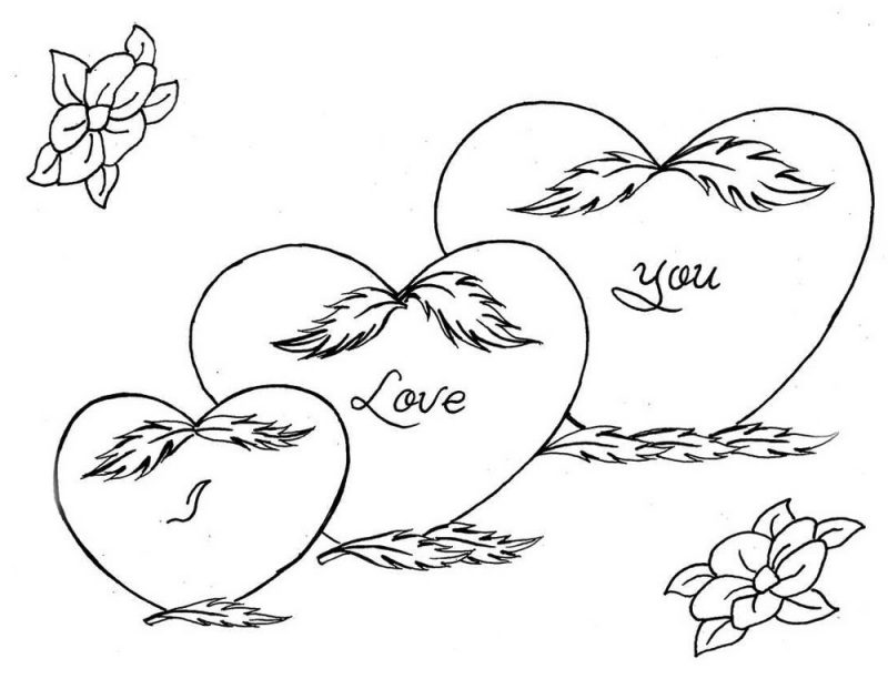 18 Dibujos De Corazones De Amor Para Colorear, Pintar E