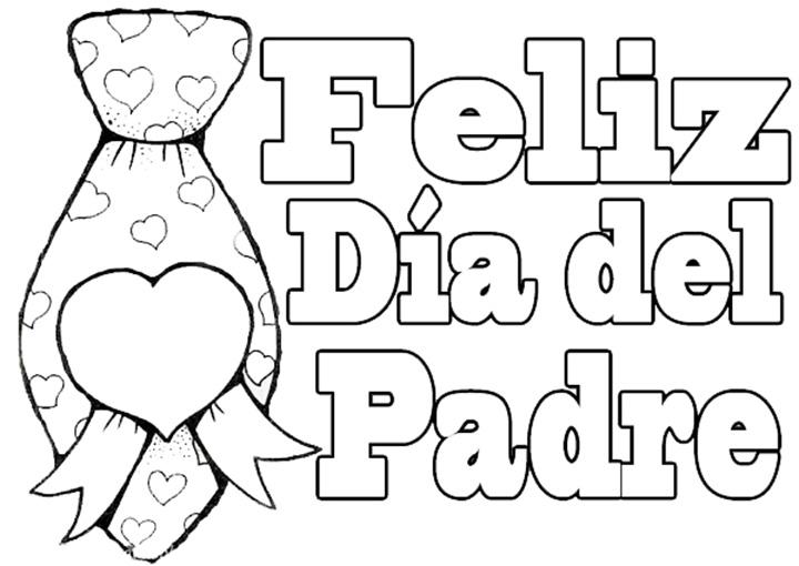 Dibujos Feliz Día del Padre para colorear