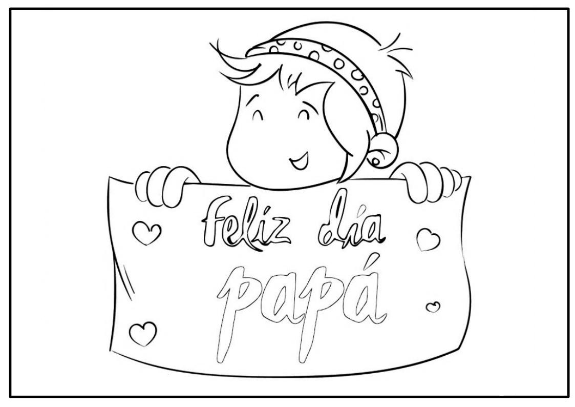 Dibujos Del Sol Para Colorear E Imprimir: Dibujos Día Del Padre Para Colorear E Imprimir
