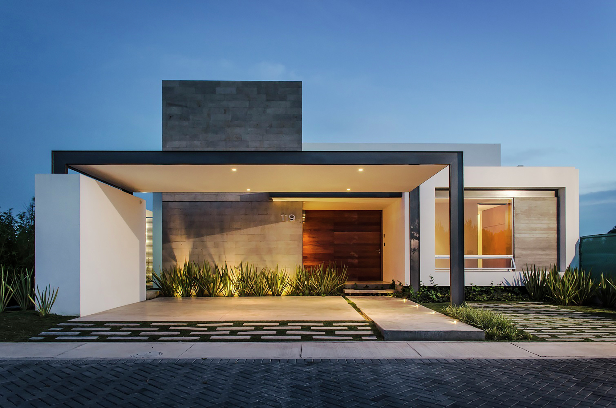 Single Floor Elevation U : Imagenes de fachadas casas modernas minimalistas y