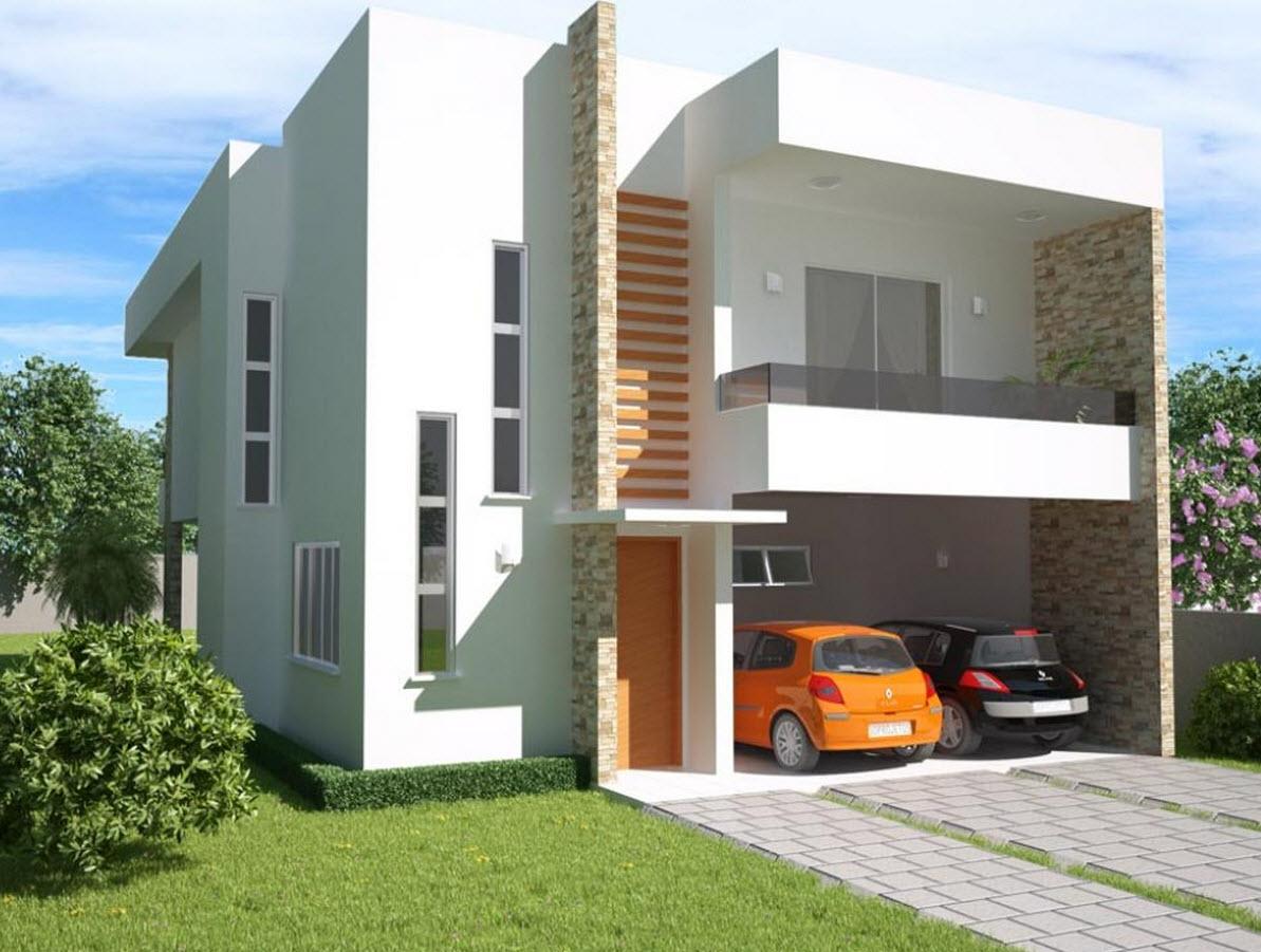 65 imagenes de fachadas de casas modernas minimalistas y for Modelos de fachadas para casas de 2 pisos