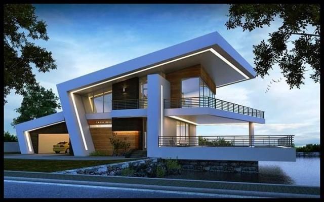 65 imagenes de fachadas de casas modernas minimalistas y - Tipos de tejados para casas ...