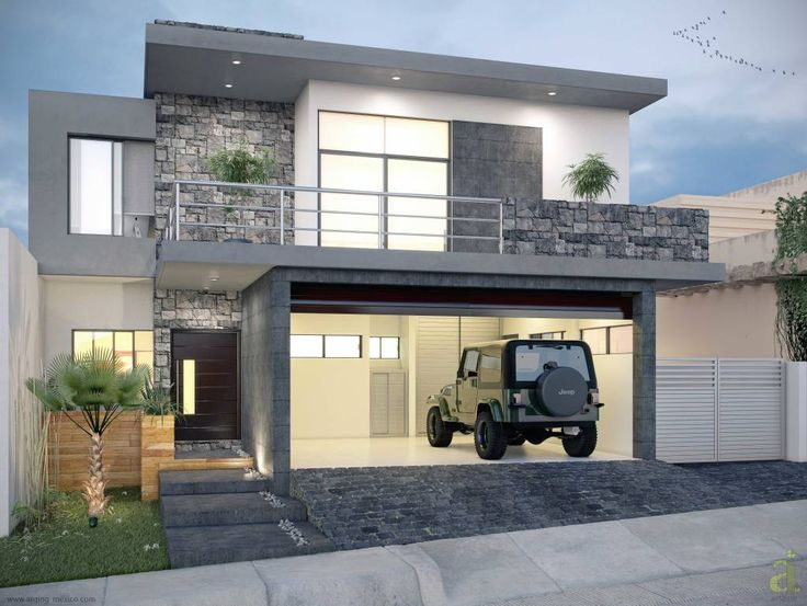 65 imagenes de fachadas de casas modernas minimalistas y for Fachadas modernas para casas de tres pisos