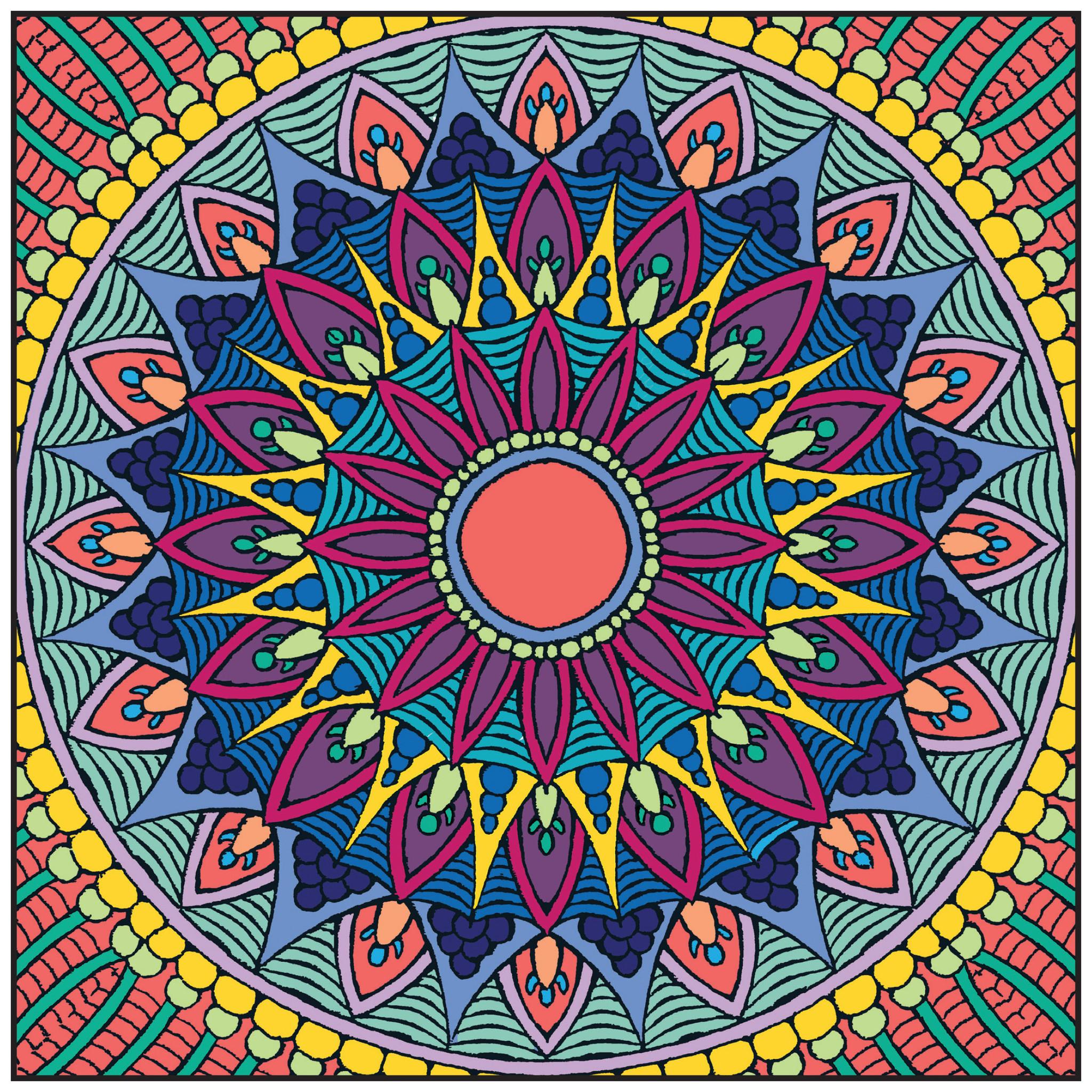 Relaxing Colors Im 225 Genes Con Mandalas De Colores