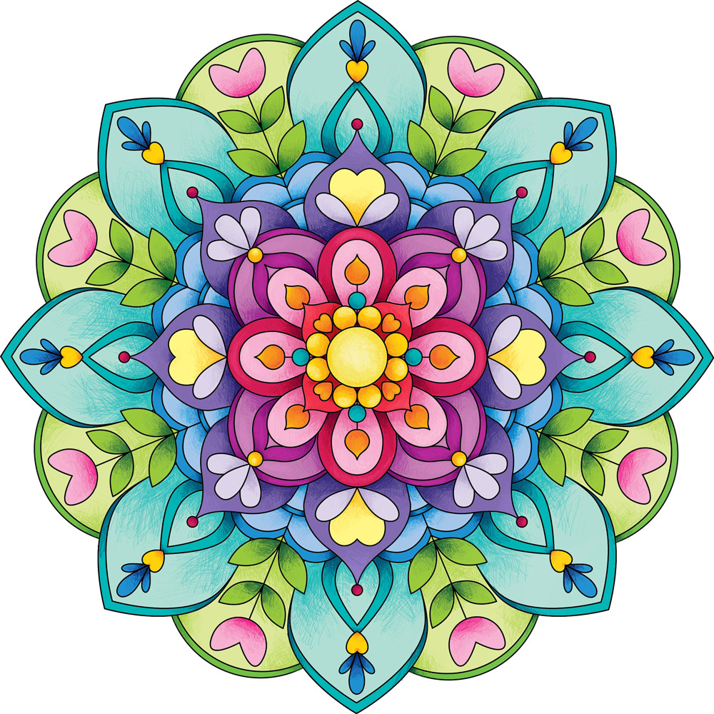 Im genes con mandalas de colores for Pared pintada con circulos