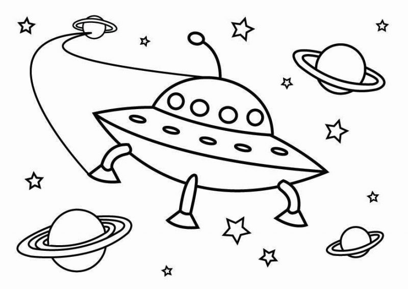 Dibujos de OVNIs para colorear