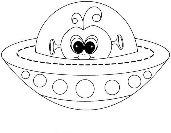Dibujos Animados Para Colorear En El Ordenador: Dibujos De OVNIs Para Colorear, Pintar E Imprimir Gratis