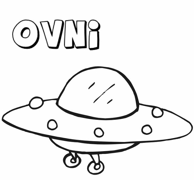 Ufo Clipart Outline Drawings