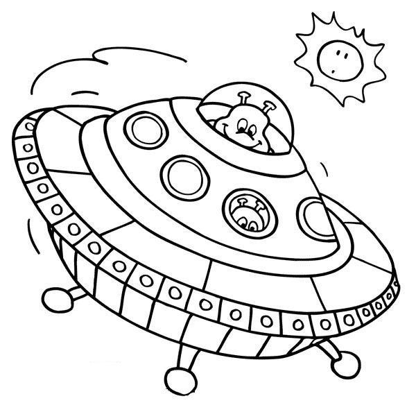 Dibujos de naves extraterrestres para colorear