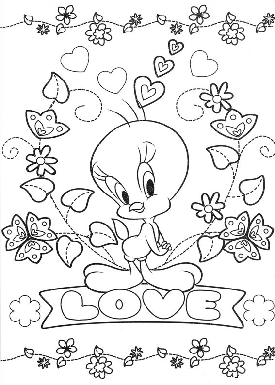 coloring pages free tweety bird - photo#24