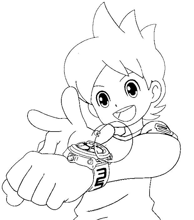 Dibujos de yo kai watch para colorear e imprimir - Coloriage nathan ...