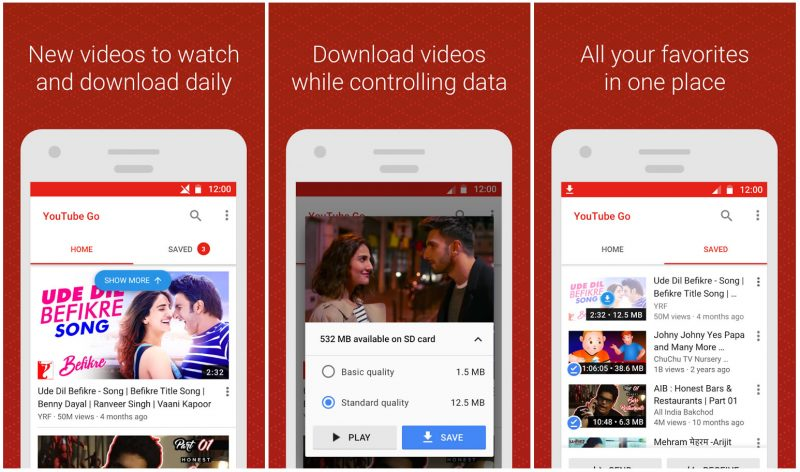 Youtube GO, app para descargar vídeos de youtube gratis