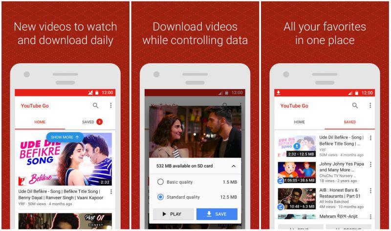 Youtube GO, app para descargar vídeos de youtube gratis