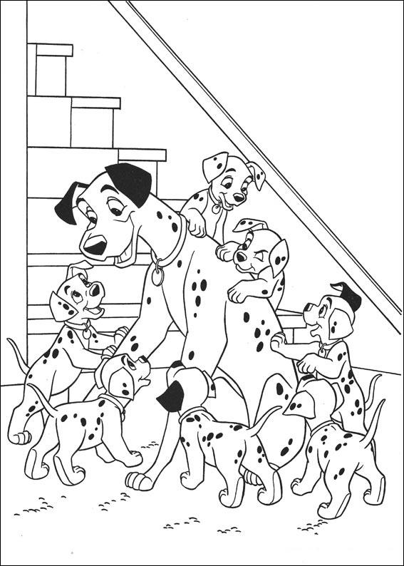 Dibujos de 101 Dalmatas para colorear