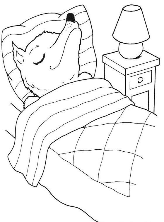 Dibujos de Caperucita Roja para Colorear e Imprimir
