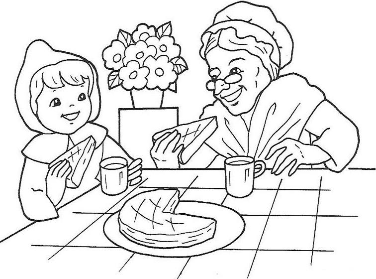 Imagenes Animadas Para Colorear: Dibujos De Caperucita Roja Para Colorear E Imprimir