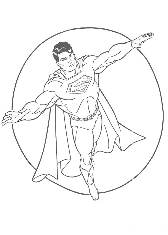 Dibujos de Superman para Colorear