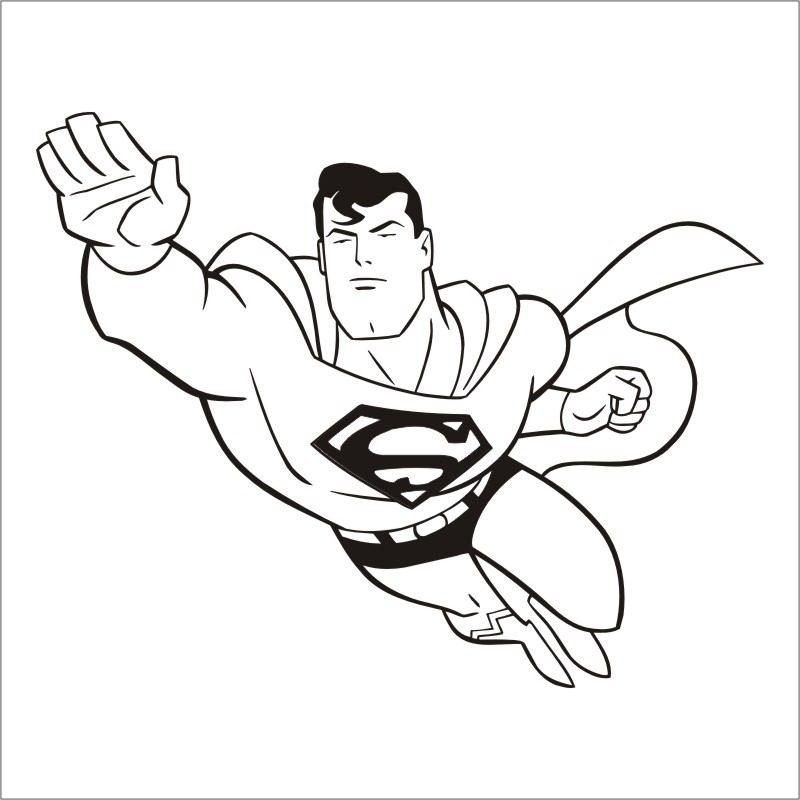 Dibujos faciles de Superman para colorear