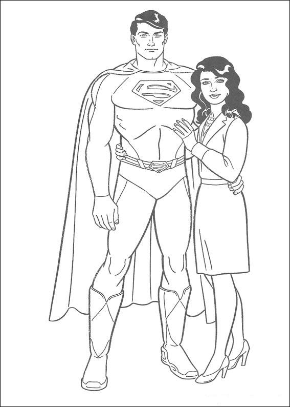 Dibujos de superman para colorear pintar e imprimir gratis - Dessin de superman ...