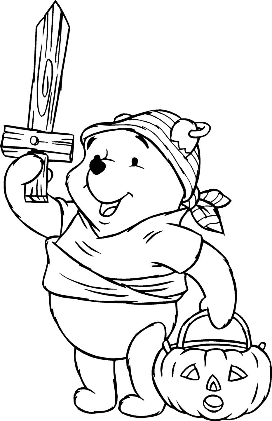 Dibujos de Winnie Pooh para Colorear, Pintar e Imprimir Gratis