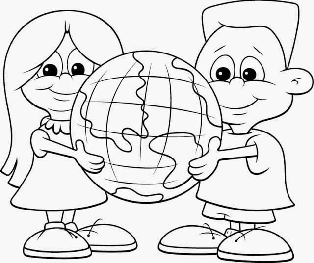 Dibujos del Dia Intercional de la Tierra para Colorear ...