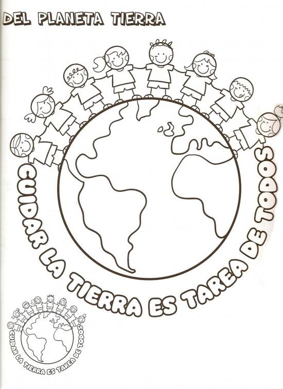 Dibujos del Dia Intercional de la Tierra para Colorear, pintar e ...