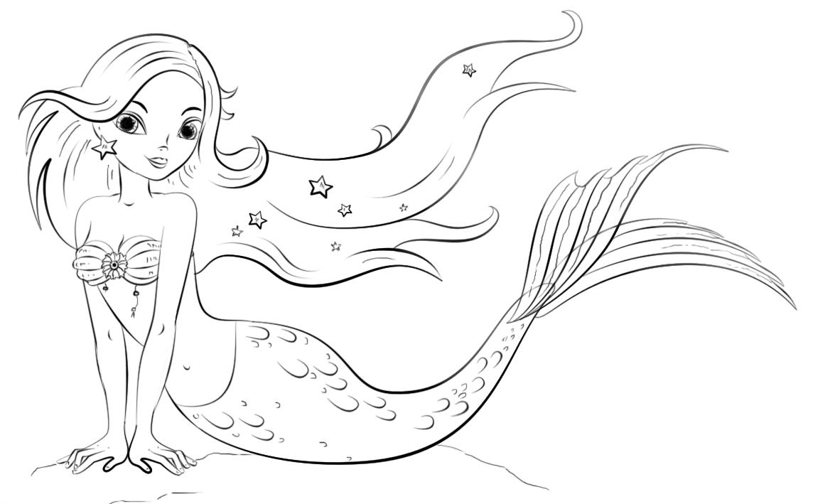 Imagenes Animadas Para Colorear: Dibujos De Sirenas Para Colorear, Pintar E Imprimir