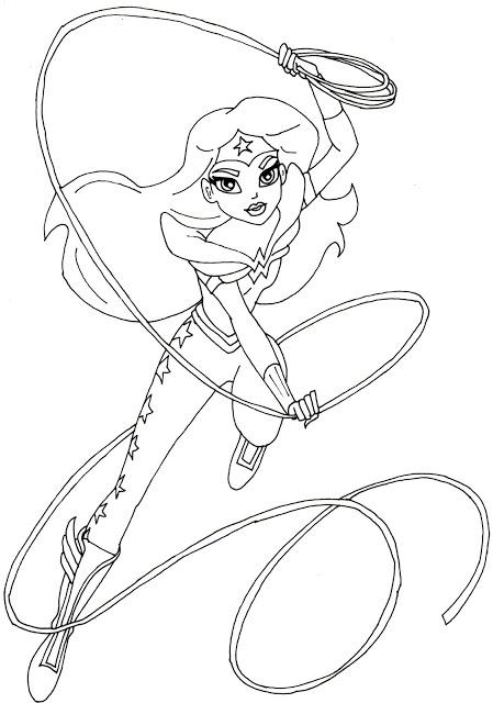 Dibujos de DC Super Hero Girls para colorear e imprimir gratis