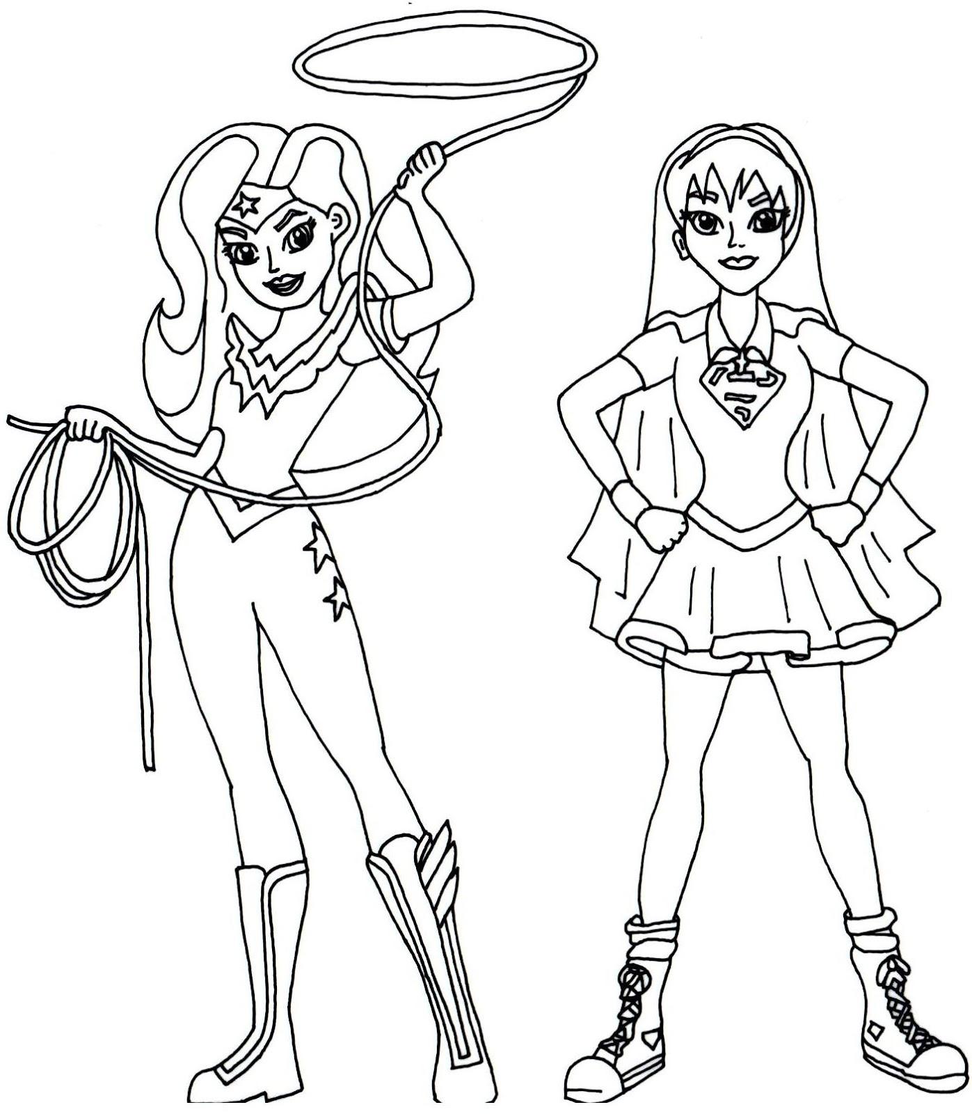 dc coloring pages - dibujos de dc super hero girls para colorear e imprimir gratis