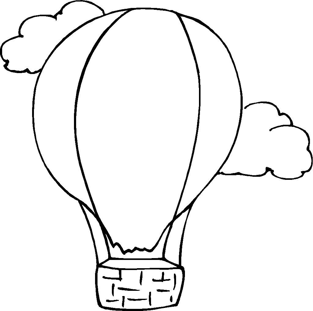 Dibujos de globos para colorear pintar e imprimir gratis for Balloon coloring pages